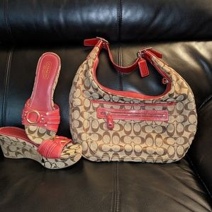 Coach handbag with matching shoes